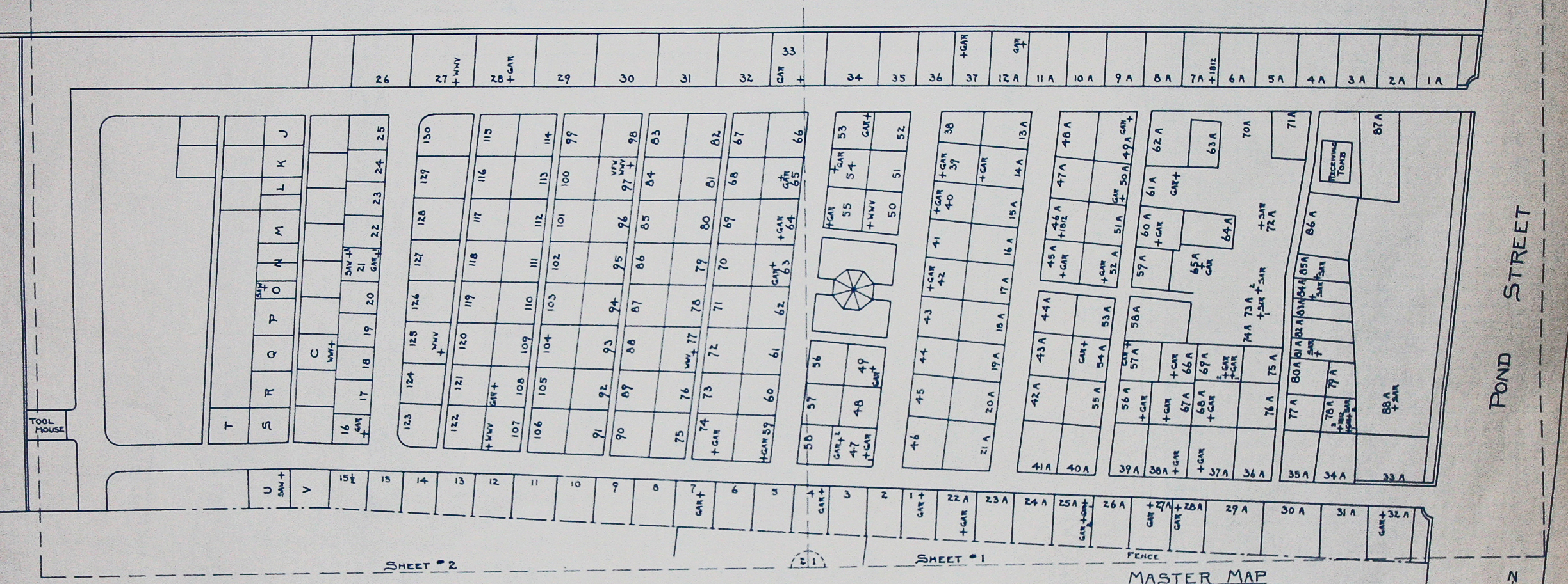Lakeview Cemetery master map