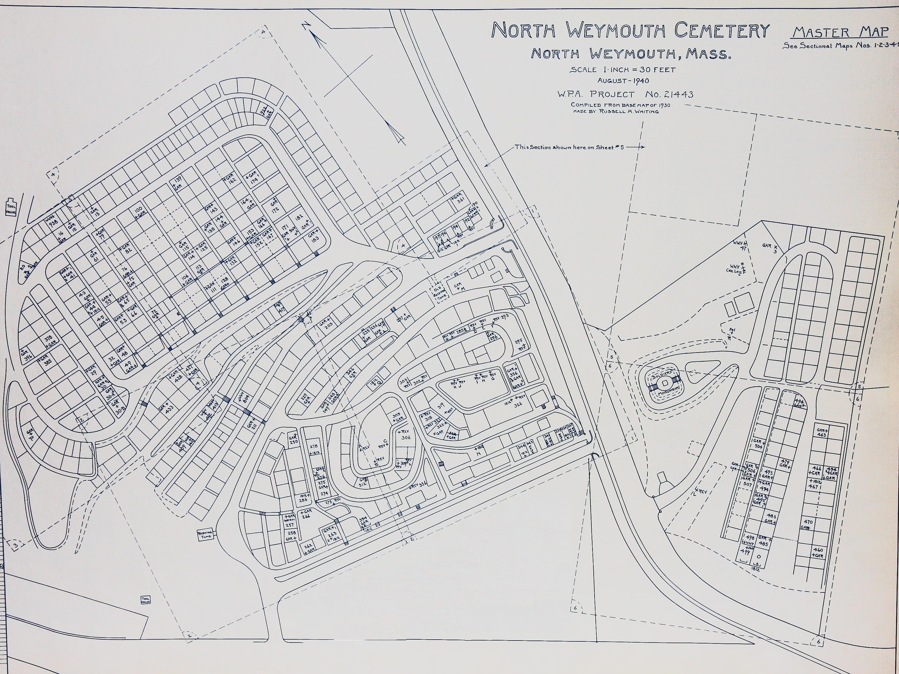 Old North Cemetery master map